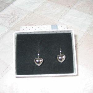 Jewelry - Sterling Silver Heart Leverback Earrings